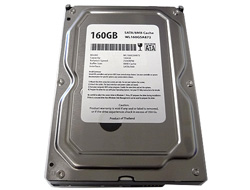 White Label 160GB 8MB Cache 7200RPM SATA Hard Drive Brand New w/1 year Warranty